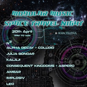 Modular Music Space Travel Night BCN 2019